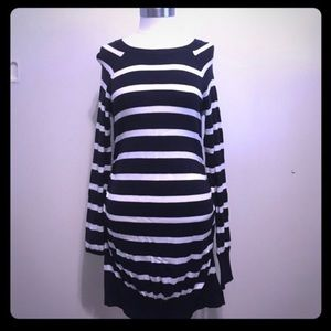 Liz Lange Maternity Sweater blue/white stripes S/P